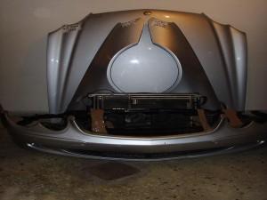 Mercedes SL r230 μετόπη εμπρός κομπλέ ασημί