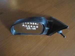 Hyundai accent 03-05 μηχανικός καθρέπτης αριστερός άβαφος
