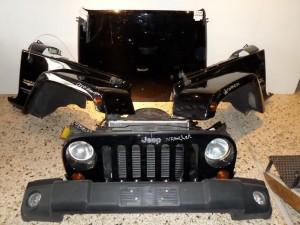 Jeep wrangler 07 μετώπη εμπρός κομπλέ μαύρο