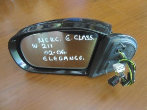 Mercedes E class w211 elegance 2002-2006 καθρέπτης αριστερός μαύρος ηλεκτρικα ανακλινομενος