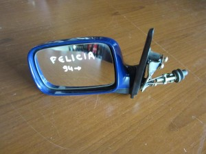 Skoda Felicia 1994-2001 μηχανικός καθρέπτης αριστερός μπλέ