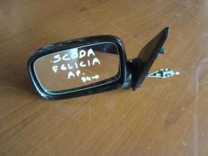 Skoda Felicia 1994-2001 μηχανικός καθρέπτης αριστερός μαύρος
