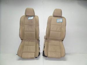 BMW Series 5 E60/E61 2003-2010 κάθισμα εμπρός με airbag αριστερό-δεξί μπέζ (δερμάτινα-ηλεκτρικά)