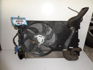 Citroen Nemo 2007-2015 Fiat Fiorino-Qubo 2008-2017 Peugeot Bipper 2008-2015 1.3cc diesel ψυγείο κομπλέ (νερού-aircondition-βεντιλατέρ-intercooler)
