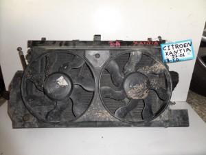 Citroen xantia 93-01 1.9cc diesel ψυγείο κομπλέ (νερού-aircondition-βεντιλατέρ-intercooler)