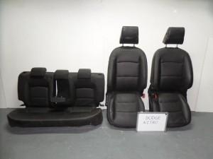 Dodge nitro 2007-2012 σέτ καθίσματα με airbag εμπρός-πίσω γκρί σκούρο