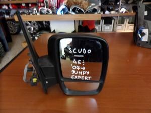 Fiat Scudo,Citroen Jumpy,Peugeot Expert 2007-2016 ηλεκτρικός καθρέπτης δεξιός άβαφος (διπλό κρύσταλλο)