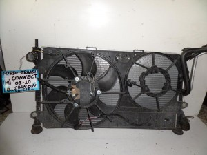 Ford transit connect 03-10 1.8cc βενζίνη ψυγείο κομπλέ (νερού-air condition-βεντιλατέρ)