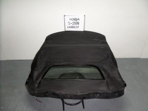 Honda S2000 2000-2009 κουκούλα ουρανού με τζάμι μαύρη με μοτέρ