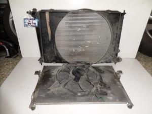 Hyundai H1 1998-2008 2.5cc diesel ψυγείο κομπλέ (νερού-aircondition-βεντιλατέρ)