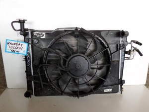 Hyundai tuscon 04 ψυγείο κομπλέ (νερού-air condition-βεντιλατέρ)