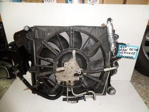 Jeep grand cherokee 05-08 3.0cc diesel ψυγείο κομπλέ (νερού-air condition-βεντιλατέρ-intercooler-λαδιού)