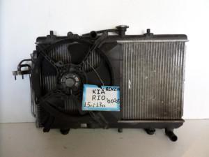Kia rio 05-12 1.4cc βενζίνη ψυγείο κομπλέ (νερού-air condition-βεντιλατέρ-δοχείο υπερχείλισης)