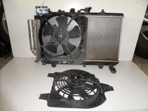 Kia rio 02-05 1.3cc-1.5cc βενζίνη ψυγείο κομπλέ (νερού-aircondition-βεντιλατέρ)