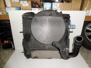 Kia Sorento 2002-2009 2.5cc diesel ψυγείο κομπλέ (νερού-βεντιλατέρ-aircondition με βεντιλατέρ-intercooler)