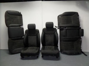 Mercedes ML 164 05-11 σέτ καθίσματα με airbag εμπρός-πίσω μαύρο-γκρί