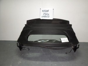 Nissan 350z 03-08 κουκούλα ουρανού με τζάμι μαύρη με μοτέρ