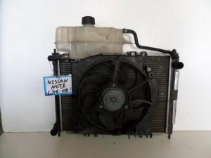 Nissan note 06-09 1.6cc ψυγείο κομπλέ (νερού-air condition-βεντιλατέρ)