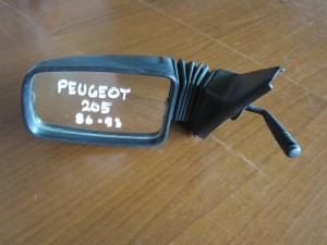 Peugeot 205 86-93 μηχανικός καθρέπτης αριστερός άβαφος