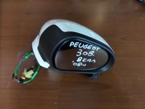 Peugeot 308 08 ηλεκτρικός καθρέπτης δεξιός άσπρος (8 καλώδια)