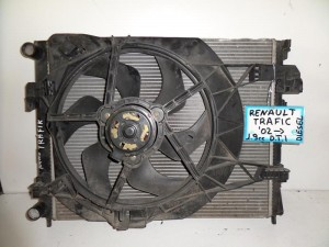 Renault traffic 2002-2014 1.9cc diesel ψυγείο κομπλέ (νερού-air condition-βεντιλατέρ)
