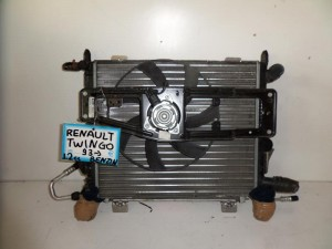 Renault Τwingo 1993-1998 1.2cc βενζίνη ψυγείο κομπλέ (νερού-air condition-βεντιλατέρ)