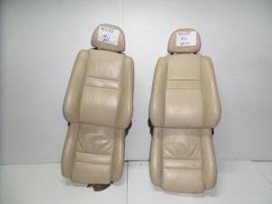 Rover MG 1995-2006 κάθισμα εμπρός αριστερό-δεξί μπέζ (δερμάτινα και ταπετσαρίες)