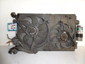 Seat leon-Toledo 99-05 1.6cc-1.8cc βενζίνη ψυγείο κομπλέ (νερού-air condition-βεντιλατέρ)