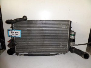 Seat toledo 99-06 1.9cc diesel ψυγείο κομπλέ (νερού-air condition-intercooler)