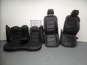 Skoda Superb 2008-2013 σέτ καθίσματα με airbag εμπρός-πίσω γκρί (δερμάτινα-ηλεκτρικά)
