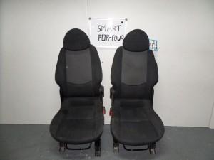 Smart Forfour 2004-2014 κάθισμα με airbag εμπρός αριστερό-δεξί μαύρα με γκρί σκούρο