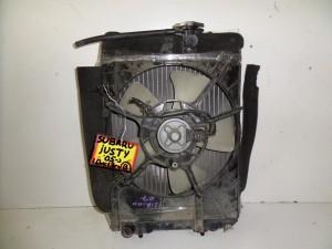 Subaru Justy 2005-2011 1.0cc-1.3cc βενζίνη ψυγείο κομπλέ (νερού-βεντιλατέρ-air condition)