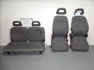 Suzuki Ignis 2000-2008 σέτ καθίσματα εμπρός-πίσω γκρί (με βούλες χρωματιστές)