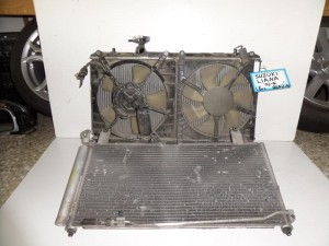 Suzuki Liana 2001-2007 1.6cc βενζίνη ψυγείο κομπλέ (νερού-air condition-βεντιλατέρ)