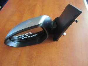 Mazda 2 2007-2014 ηλεκτρικός καθρέπτης ανακλινόμενος αριστερός ασημί