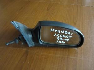 Hyundai accent 1999-2002 μηχανικός καθρέφτης δεξιός άβαφος