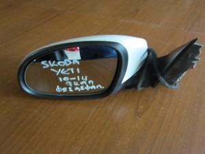 Skoda yeti 10-14 ηλεκτρικός καθρέφτης αριστερός λευκός (9 καλώδια-φώς ασφαλείας)
