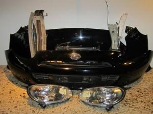 Nissan Micra K13 2010-2014 μούρη-μετώπη εμπρός κομπλέ μαύρη