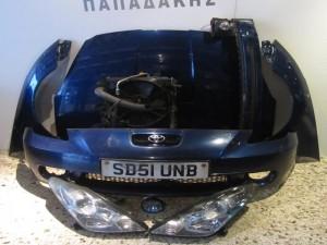 Toyota celica 2000-2006 μετώπη-μούρη εμπρός κομπλέ μπλέ