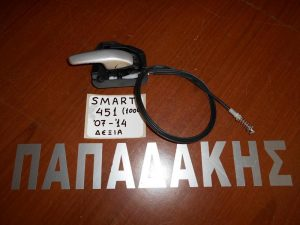 Smart 451 1000 2007-2012 (2012-2014) ανοιχτήρι πόρτας εσωτερικό δεξιό