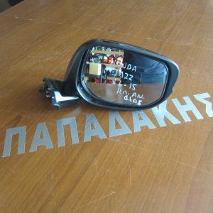 Honda Jazz 2011-2015 καθρέπτης δεξιός ηλεκτρικός ανακλινόμενος μαύρος