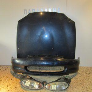 Mazda MX5 1999-2003 μετώπη-μούρη εμπρός κομπλέ πράσινο σκούρο (καπώ-2 φανάρια-προφυλακτήρας-ψυγείο νερού με βεντιλατέρ)