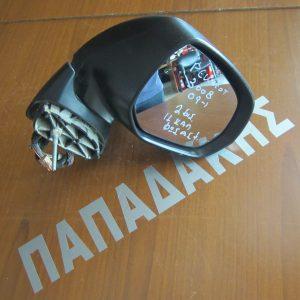 Peugeot 3008 2009- καθρέπτης δεξιός ηλεκτρικός με φως ασφαλείας 11 καλώδια 2 φις ανθρακί