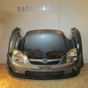 Suzuki Ignis 2003-2008 μετώπη-μούρη κομπλέ μολυβί (καπώ-2 φτερά-2 φανάρια-προφυλακτήρας-ψυγείο νερού κ ψυγείο A/C με βεντιλατέρ)