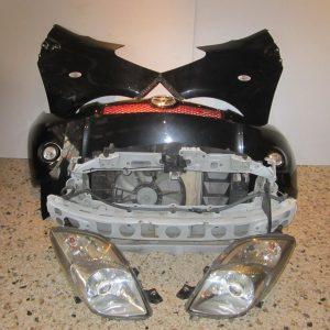 Toyota Yaris 2006-2009 T-Sport μούρη εμπρός κομπλέ μαύρη (καπώ-2 φτερά-2 φανάρια-προφυλακτήρας-μετώπη με τραβέρσες-ψυγεία κομπλέ)