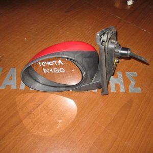 Toyota Aygo 2006-2012 καθρέπτης αριστερός μηχανικός κόκκινος