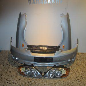 Μετωπη-μουρη εμπρος κομπλε Hyundai Coupe FX 2001-2005  ασημι (2 φτερα-2 φαναρια-προφυλαχτηρας-τραβερσα-ψυγεια κομπλε)