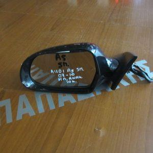 Audi A5  5θυρο 2007-2010 καθρεπτης αριστερος ηλεκτρικος και ηλεκτρικα ανακλινομενος μαυρος