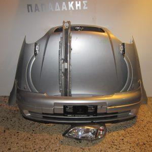 Μετωπη-μουρη εμπρος κομπλε Opel Astra G 1998-2004 ασημι (καπο-2 φτερα-προφυλαχτηρας-φαναρι αριστερο-τραβερσα προφυλαχτηρας)