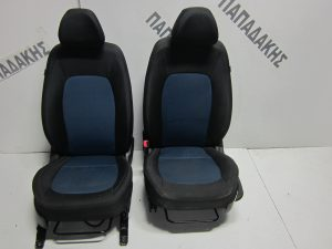 Hyundai i10 5θυρο 2014-2017 με A/B δεξιό-αριστερό μαύρο-μπλε κάθισμα εμπρός